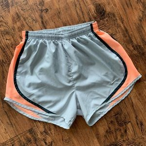 Nike Women's Dry Fit Tempo Shorts Gray Pink XS